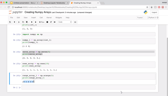 Jupyter Notebooks with cell 6 run