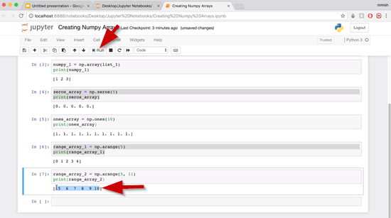 Jupyter Notebooks with cell 7 run