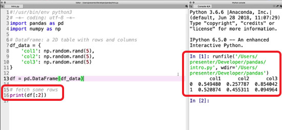 Fetch script by indices run within SPyder
